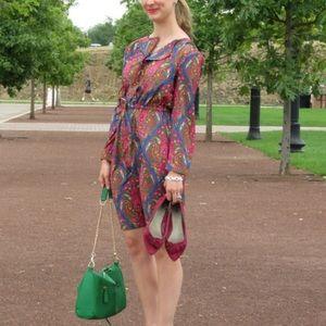 NWT Merona Paisley Long Sleeve Dress